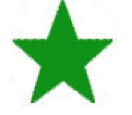 Green star stamp
