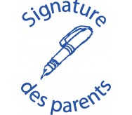 Signature des parents