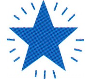 Blue star pen